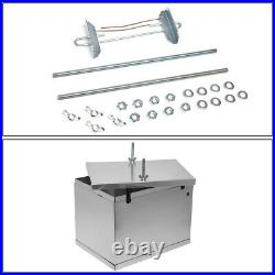 13.5 X 9.5 X 10 COMPLETE ALUMINUM BATTERY BOX RELOCATION KIT With2-GAUGE CABLES