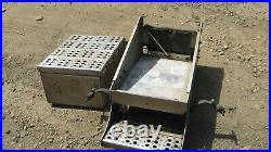 2009 Sterling 9500 Aluminum Battery Box With Step Complete Three Battery