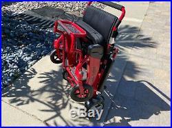 Air Hawk Foldable Power Wheelchair. 2x Batteries 24mi range 41lbs. Open box