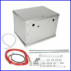 Complete Aluminum Battery Box Relocation Kit Universal Billet Race withCables