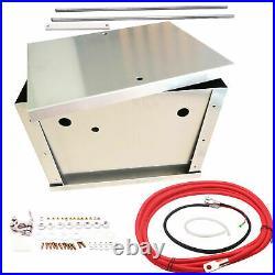 Complete Billet Aluminum Battery Box Relocation Kit Universal For HONDA For