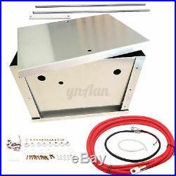 Complete Universal Billet Aluminum Car Battery Tray Relocation Box Bracket Kit