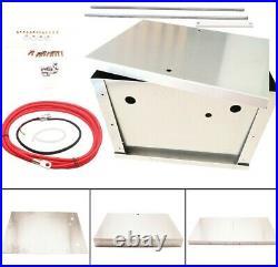 FULL Aluminum Battery Box Relocation Kit Universal Polished SHIPS FROM MICHIGAN