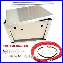 For BMW E90 E91 E92 E93 Complete Aluminum Battery Box Relocation Kit