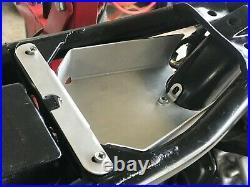Honda CX500 Small Under Seat Battery Tray! Aluminum Powder Coated Black