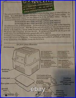 Optima Battery Box Natural Cast Aluminum O'Brien Truckers New Open Box