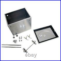Summit Battery Box Aluminum Finish 12.00 Lengthx8.50 Widthx10.375 Height EA