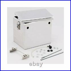 Summit Battery Box Aluminum Polished 11 5/8 Lenx8 7/8 Widthx10 1/4 Height EA