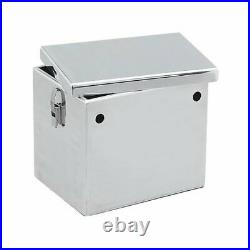 Summit Battery Box Aluminum Polished 13 7/8 Lenx8 7/8 Widthx10 1/4 Height EA