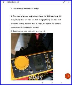 Sur-Ron Li-Ion 10 Amp Battery Charger (New, Open Box) 60v 220v