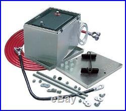 Taylor 48101 NHRA Legal Trunk Moun Aluminum Battery Box & Kit 13.5 X 9.5 X 10