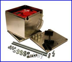 Taylor 48200 Aluminum Battery Box 11.25 L x 9.5 W x 8.75 H Aluminum NHRA
