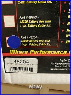 Taylor 48204 Aluminum New Battery Box withCables Open Box
