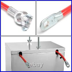 Universal Aluminum Battery Box Relocation Kit+cable Wire 13.5w X 9.5d X 10h