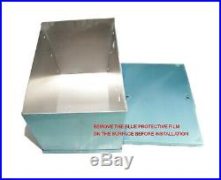 Universal Complete Aluminum Battery Box Relocation Kit WithCables SILVER