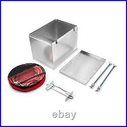Universal Fabricated Polished Aluminum Battery Box and Relocation Kit