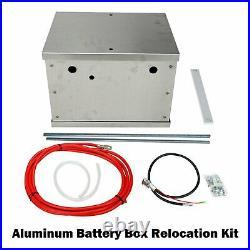 Universal Polished Billet Race PC Complete Aluminum Battery Box Relocation Kit
